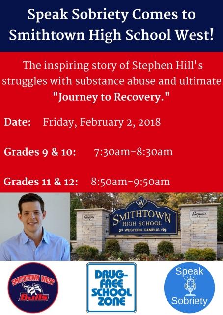 Speak Sobriety Comes to Smithtown High School West!