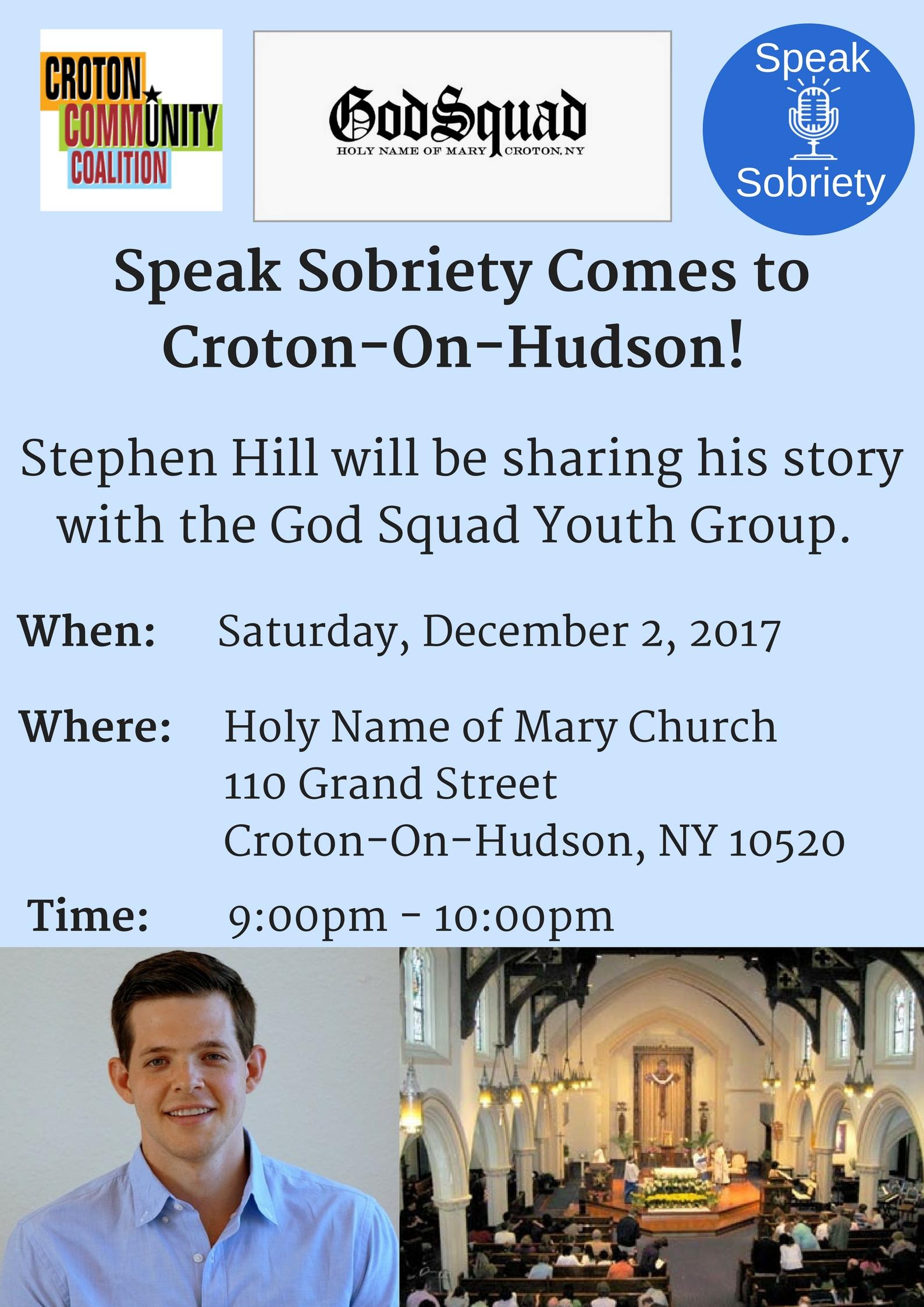 Speak Sobriety Comes to Croton-On-Hudson! (2)