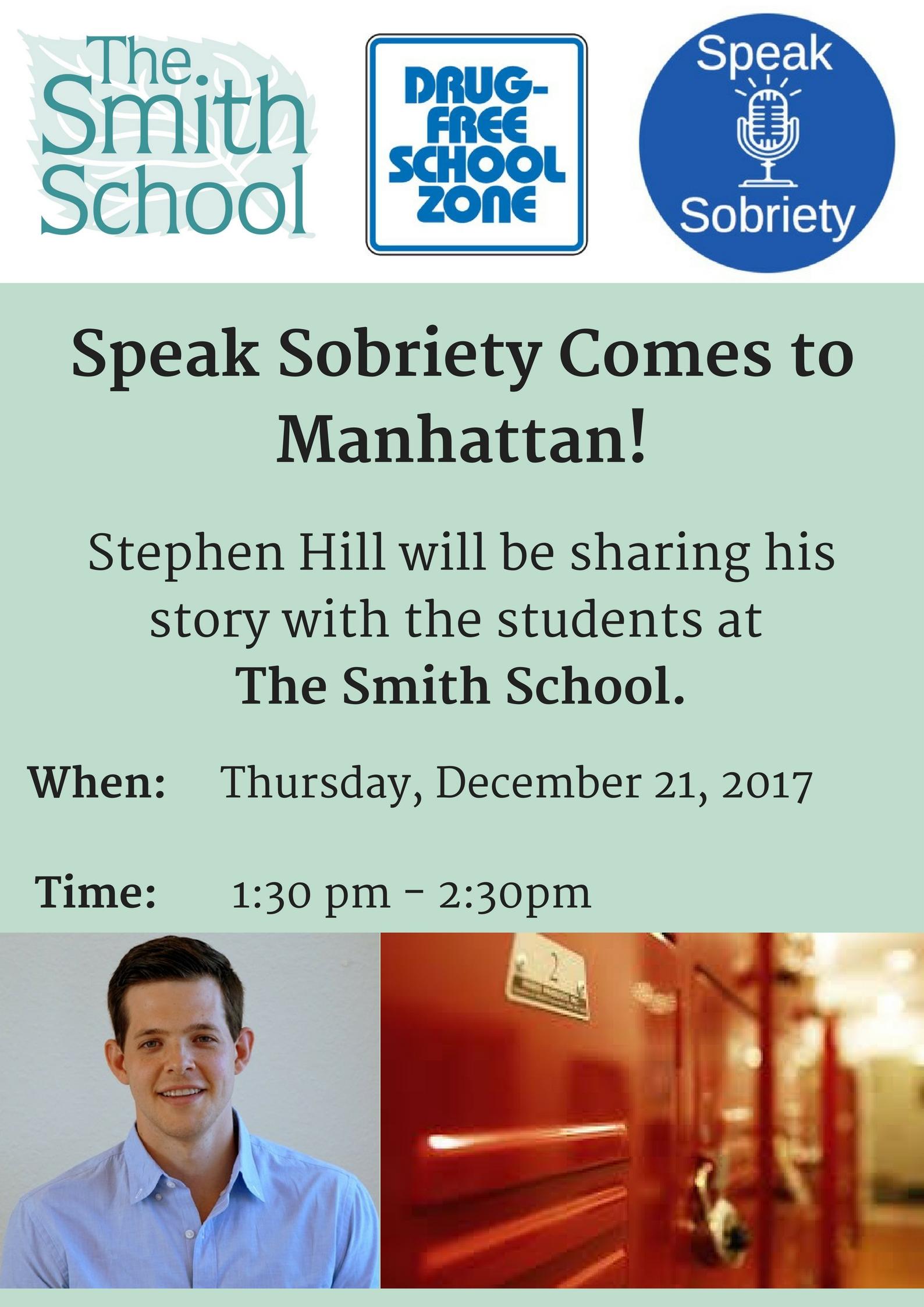 Speak Sobriety Comes to Manhattan!